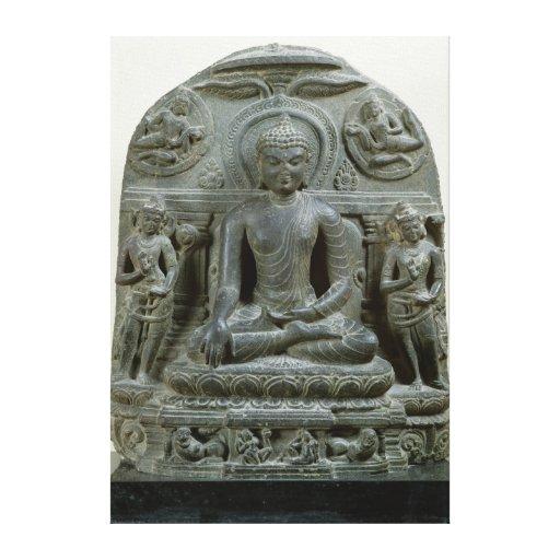Buda asentado en la meditación lona estirada galerías