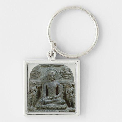 Buda asentado en la meditación llaveros