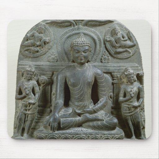 Buda asentado en la meditación tapetes de raton