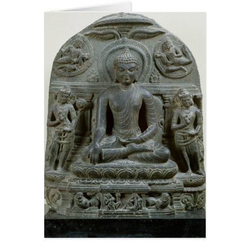 Buda asentado en la meditación tarjeton