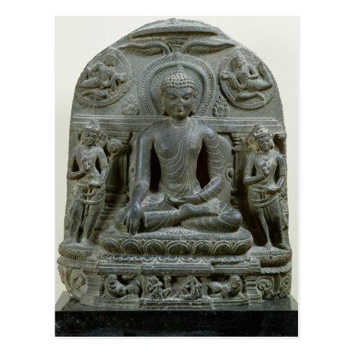 Buda asentado en la meditación tarjetas postales