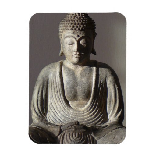 Buda asentado imán rectangular