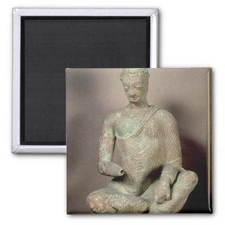 Buda asentó en la meditación, de Fondukistan Imán Cuadrado