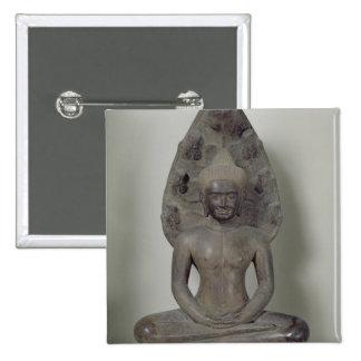 Buda asentó en la meditación en el Naga, Angkor Pin Cuadrado