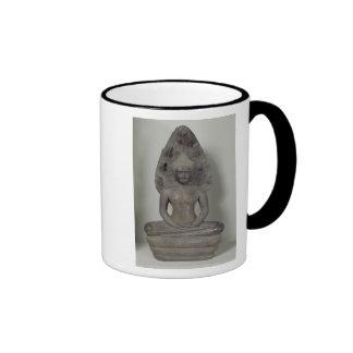 Buda asentó en la meditación en el Naga, Angkor Taza De Dos Colores