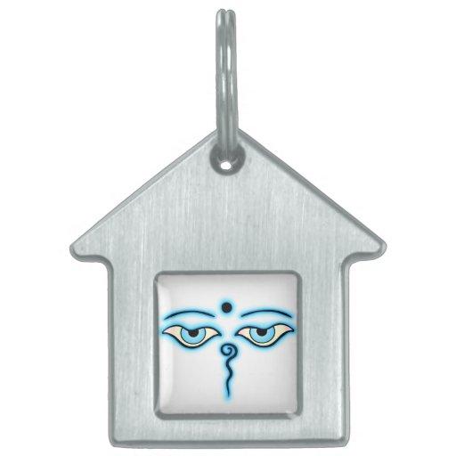 Buda azul claro Eyes.png Placas De Mascota