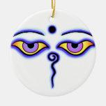 Buda azul Eyes.png Ornaments Para Arbol De Navidad