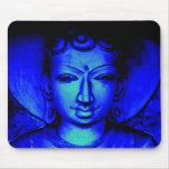 Buda azul Mousepad Alfombrillas De Raton