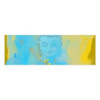 Buda azul tarjetas de visita mini