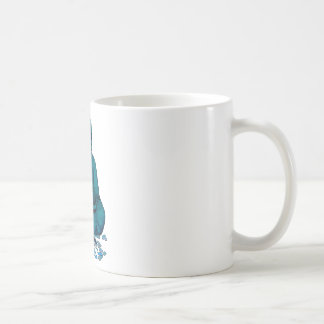 Buda azul taza básica blanca