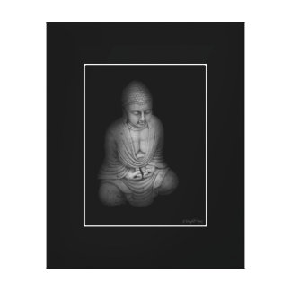 Buda B&W Impresión En Lienzo Estirada