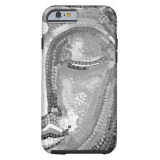 Buda blanco y negro hace frente funda de iPhone 6 tough