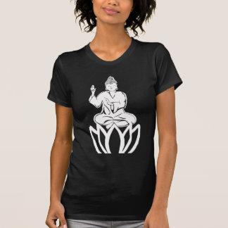 Buda blanco y negro playera