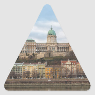 Buda Castle Hungary Budapest at day Triangle Sticker