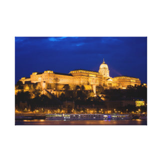 Buda Castle in Budapest at Night Canvas Print