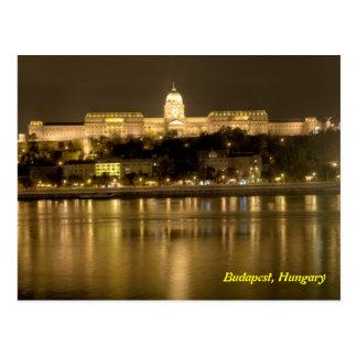 buda castle in budapest, hungary postcard