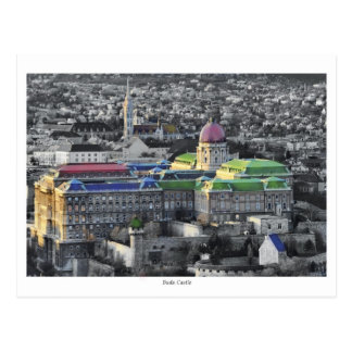 Buda castle in colors postcard