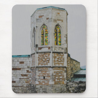 Buda castle old tower, Budapest Mousepads