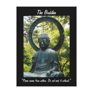 Buda-con cita impresión en lienzo