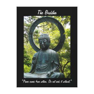 Buda-con cita lona envuelta para galerias