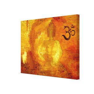 Buda con OM y Lotosflowers Impresiones En Lienzo Estiradas