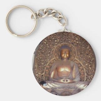 Buda de bronce llavero redondo tipo pin