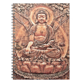 Buda de cobre asombroso detallado notebook