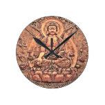 Buda de cobre asombroso detallado reloj
