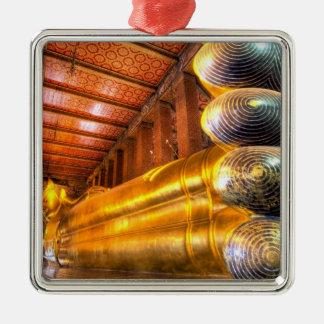Buda de descanso gigante dentro del templo, Wat Adorno Navideño Cuadrado De Metal