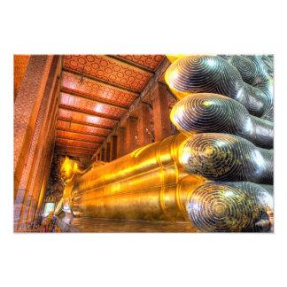 Buda de descanso gigante dentro del templo, Wat Ph Fotografías