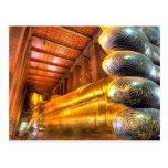 Buda de descanso gigante dentro del templo, Wat Ph Tarjeta Postal