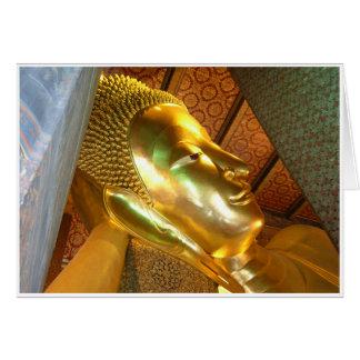 Buda de descanso gigante tarjeta de felicitación