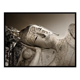 Buda de descanso pacífico tarjetas postales