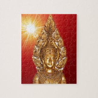 Buda de oro en rojo puzzle