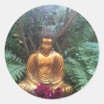 Buda de oro etiqueta