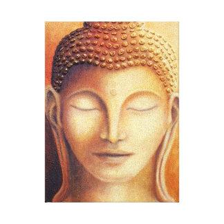 Buda de oro impresiones en lona estiradas