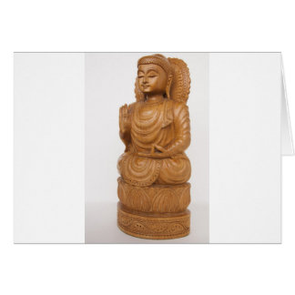 Buda de oro tarjeta de felicitación