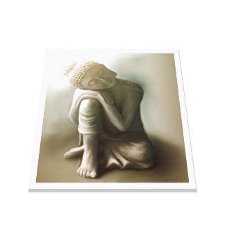 Buda de reclinación impresión en lona