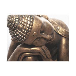 Buda de reclinación lienzo envuelto para galerias