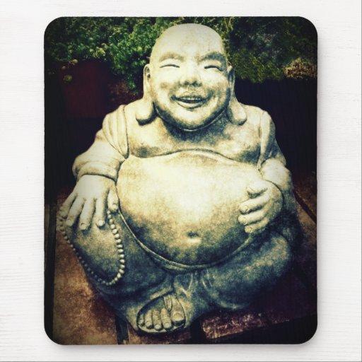 Buda de risa alfombrillas de ratones