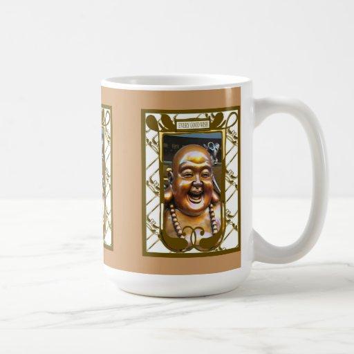Buda de risa chino taza