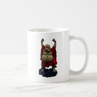 Buda de risa (color 4) taza básica blanca