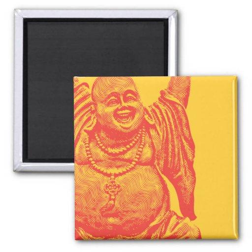 Buda de risa (rojo) imanes de nevera