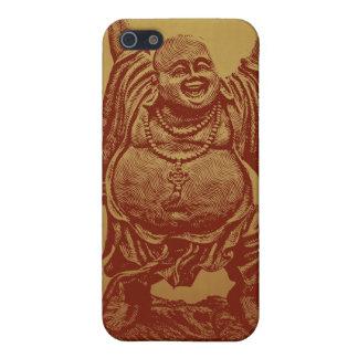 Buda de risa (rojo oscuro) iPhone 5 fundas