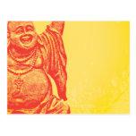 Buda de risa (rojo) postal