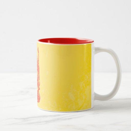 Buda de risa (rojo) taza de café