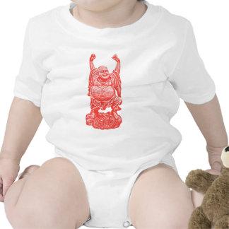 Buda de risa (rojo) traje de bebé
