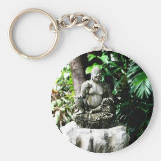 Buda de risa tailandés en jardín llaveros personalizados