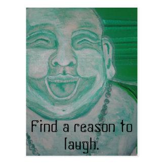 Buda de risa tarjeta postal