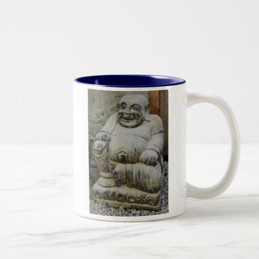 Buda de risa taza
